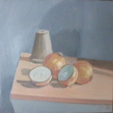 Sam Thurston South Deerfield Still Life Show o/c