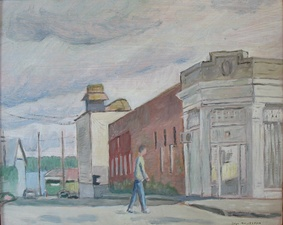 Sam Thurston Paintings of Newport, Vermont  oil on board