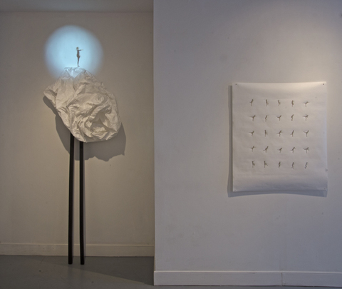 installation view of balance/équilibre, II and be still