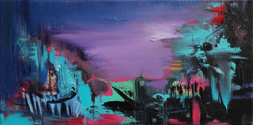"""ABSTRACT SPACE"" PURPLE HAZE"