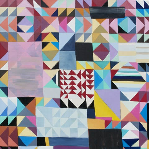 Sandy Deacon Paintings--Geometric Abstractions oil on canvas