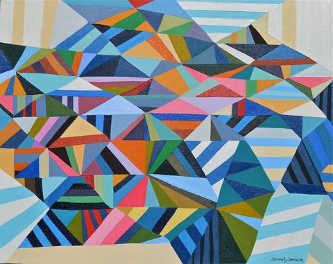 Sandy Deacon Paintings--Geometric Abstractions oil on linen