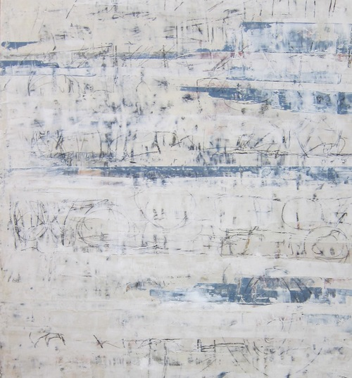 sara egan  series two plaster wax and wax drawing