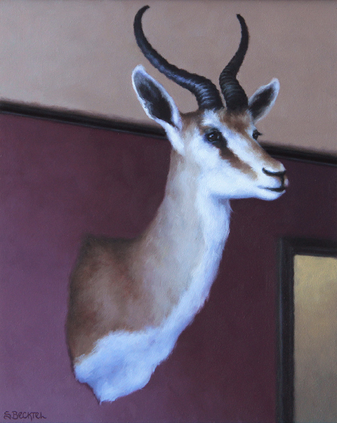 Sarah Becktel  Bones and Taxidermy Oil on Panel