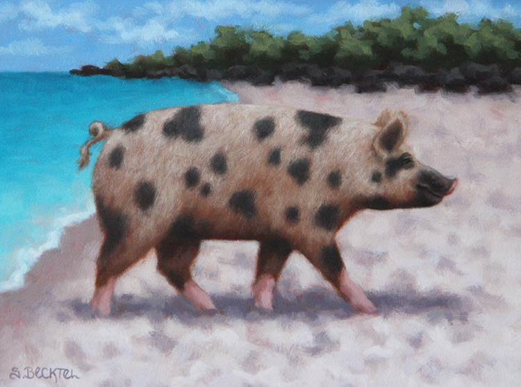 A Certain Time and Place Beach Pig I