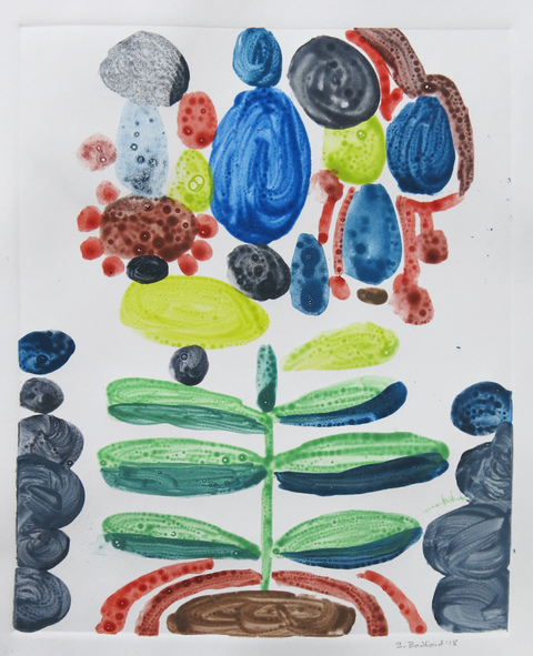 Monoprints 2018 Seedling