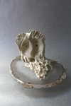 Bronze + Clay  Fired clay on agate Plinth
