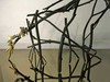 Bronze + Clay  Twigs, paint, mirror and feathers