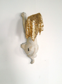 Sarah Bedford Bronze + Clay  Found object and metal mesh