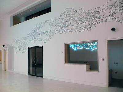 Sarah Iremonger Upside-down Mountains 2003 Wall painting