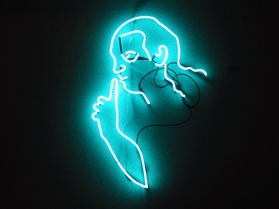 Sarah Iremonger Top Half of the Hero 2002 Neon tubing