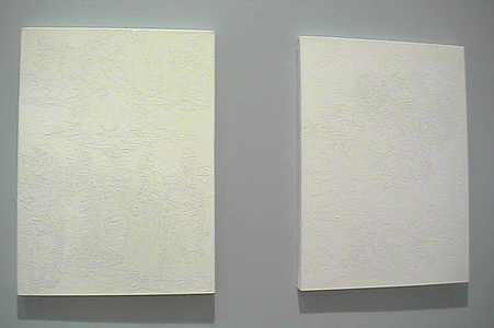 Sarah Iremonger Lumpy Art History 2001-03 Household enamel paint on canvas (both)