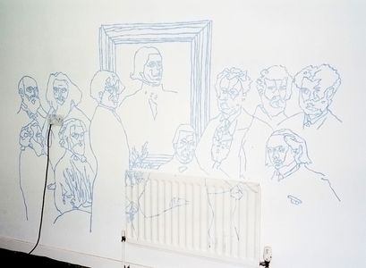 Sarah Iremonger Murals 2000-02 Acrylic paint on wall / performance