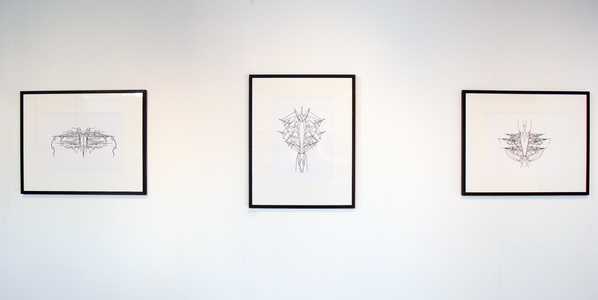 Sarah Iremonger Solipsism Series 2013-15 Framed digital prints of drawing on epson archival paper