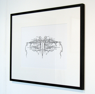 Sarah Iremonger Solipsism Series 2013-15 Framed digital print of drawing on epson archival paper