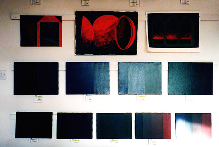 Sarah Iremonger Nothing 1998-2003 Oil on canvas, acrylic on paper, labels