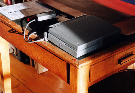 Sarah Iremonger Nothing 1998-2003 Computer, desk, flyers, labels