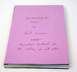 Sarah Iremonger Nothing 1998-2003 Pen on paper, photographs, photocopies, text, postcards, black and white paper