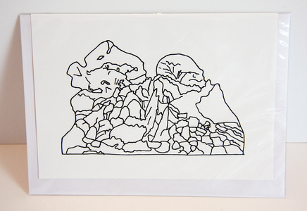 Sarah Iremonger Landscape Unions 2011-12 Printed image, card, envelope, cellophane bag