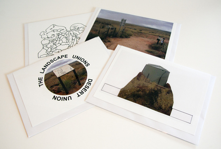 Sarah Iremonger Landscape Unions 2011-12 Photographs, images, text, card, envelopes, cellophane bags