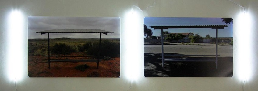 Sarah Iremonger Landscape Unions 2011-12 Photographs printed on hahnemuhle photographic paper and lead lights