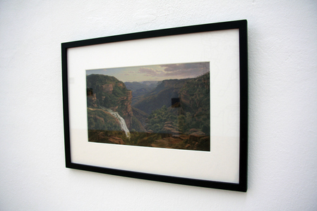 Sarah Iremonger The Travels of Eugen von Guérard 2011-12 Framed photographic image of a painting