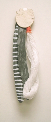 Sarah McDougald Kohn 2006 & Older Paper, glue, fabric, wood & paint