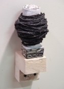 Sarah McDougald Kohn 2007 Air-dry clay, paint, ink, string & wood