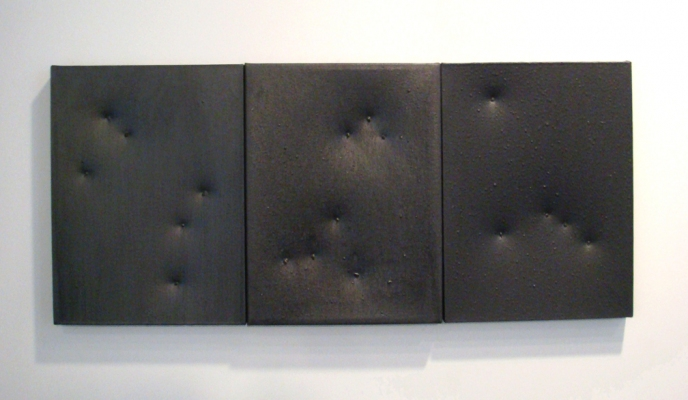 Sarah McDougald Kohn 2006 & Older Graphite, glue & string on canvas