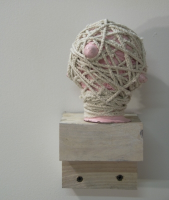 Sarah McDougald Kohn 2008 Air-dry clay, string, paint & wood