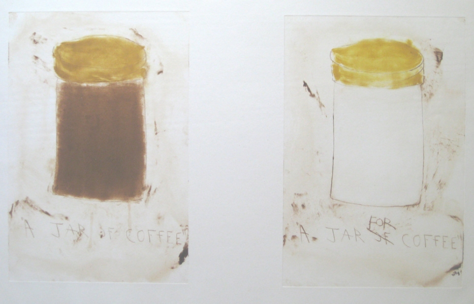 Monoprints A Jar of Coffee