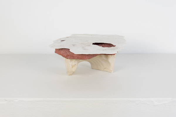 SARA HUBBS Small Works Cast Hydrocal, cast plaster, acrylic paint, concrete tint, archival glue