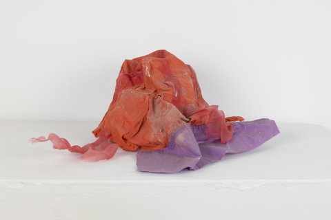 SARA HUBBS Coverings Clothing, fabric glue over plastic product packaging