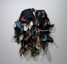 SARA HUBBS As Is  (MFA Exhibition) my worn shoes, skinned