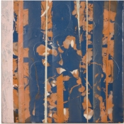 Sara Hubbs ARCHIVES industrial wax, pigment, spray paint on panel