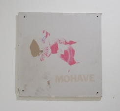 Sara Hubbs AS IS found piece of drywall with paint, stencil