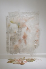 SARA HUBBS As Is  (MFA Exhibition) tape, acrylic paint, Stabilizer natural binder