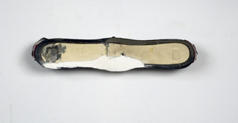 Sara Hubbs 2009 shoe, putty, adhesive, and hardware