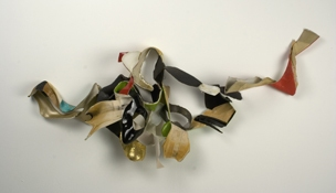 Sara Hubbs 2009 discarded shoes, thread, & hardware