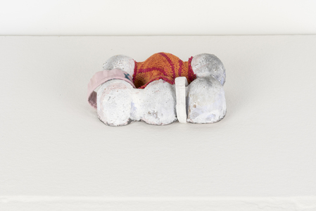 SARA HUBBS Small Works Cast plaster, fabric, fabric glue