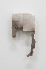 SARA HUBBS Coverings plaster cloth, plaster and fishnet tights