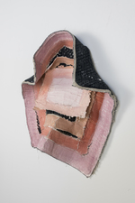 SARA HUBBS Sculpture  joint compound and pastel on pillow case