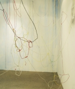 Sara Hubbs ARCHIVES colored string covered with wax