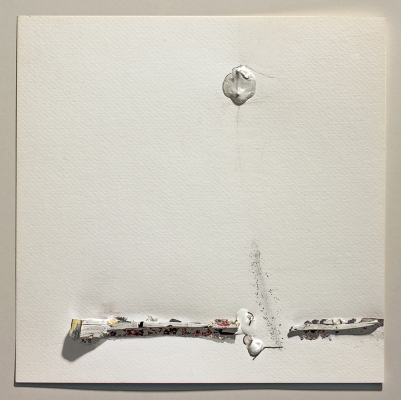 SARA  KLAR Drawings Staples, Acrylic, Adhesive, Ink, Graphite On Paper