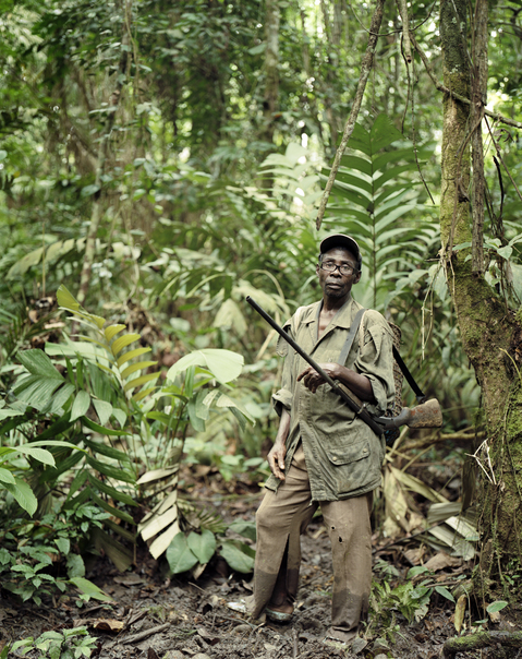 <b>Republic of Dust</b> Village chief hunting in the forest near the Equatorial Guinea border