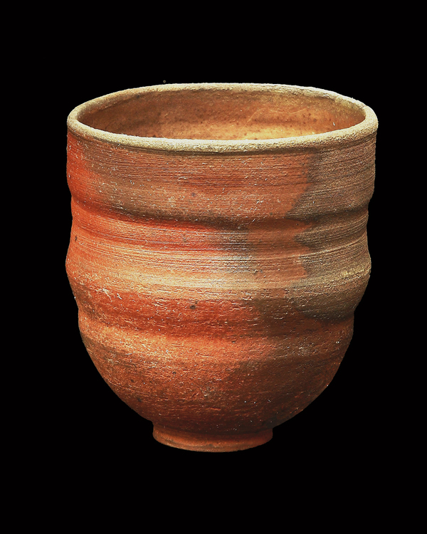 PHYLLIS SAVAGE WOOD FIRED YUNOMI STONEWARE