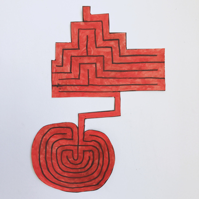 Red Labyrinth Cutout