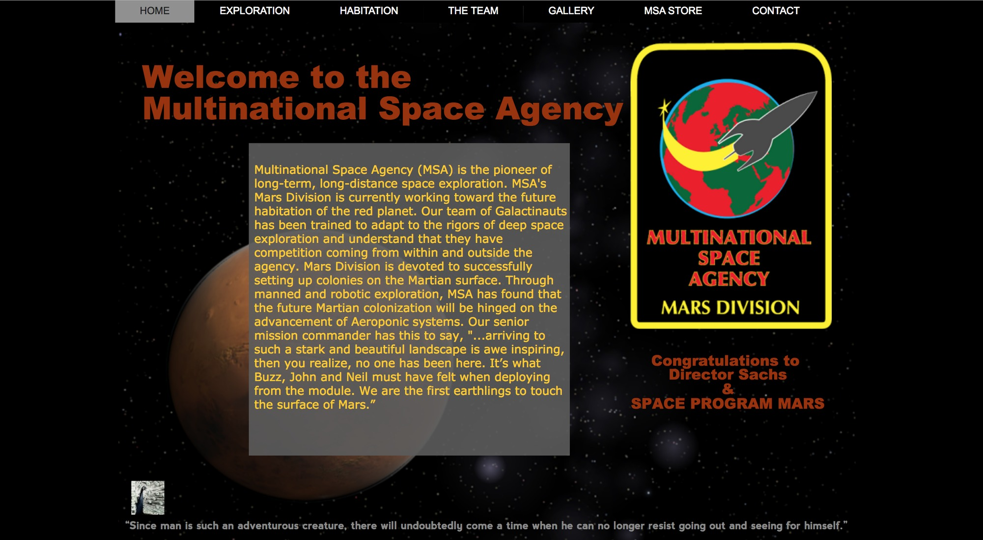 Multinational Space Agency  Multinational Space Agency