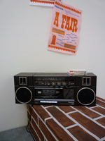 A Fair (Boombox w/ mixed tapes & Poster)