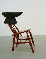 Sean Naftel  Chair, enamel, foam, supersaturated paint<br/>